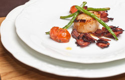 Scallops with bacon Royalty Free Stock Photography