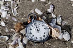 Scallops And Chronometer Royalty Free Stock Image