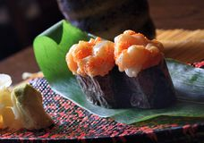 Scallops with Crab Sub sushi Royalty Free Stock Photo