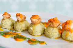 Scallops with Mash Potato Royalty Free Stock Photo