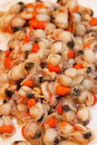 Scallops with roe Stock Photography