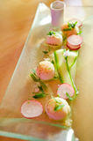 Scallops in sake butter sauce Royalty Free Stock Images