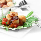 Scallops Salad Crop Stock Images