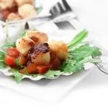 Scallops Salad Crop Stock Images