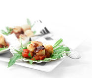 Scallops Salad II Royalty Free Stock Photos