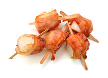 Scallops wrapped in bacon Royalty Free Stock Photo