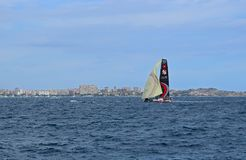 Scallywag Volvo Ocean Race Alicante 2017. Alone in Alicante bay on the first leg of the round the World race Royalty Free Stock Image