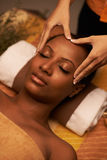 Scalp massage royalty-vrije stock afbeelding