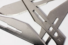 Scalpel blades Royalty Free Stock Photography