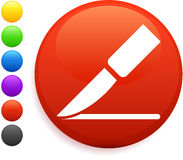 Scalpel icon on round internet button Royalty Free Stock Photography