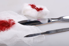 Scalpel knives Stock Image