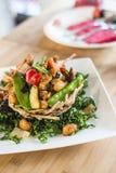 Scalpore tailandesi fritte con la rete del taro Fotografia Stock