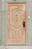 Scaly brown  door Stock Photos