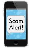 Scam-Alarm stock fotografie