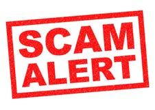 Scam-Alarm Stock Foto's