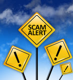 Scam alert ahead concept royalty free stock photo