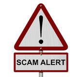 Scam Alert Caution Sign Royalty Free Stock Image