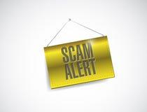 Scam alert hanging banner illustration design Royalty Free Stock Photos