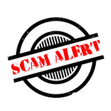 Scam Alert rubber stamp Royalty Free Stock Image