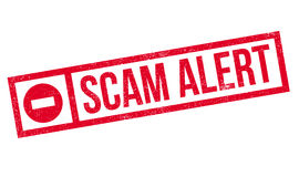 Scam Alert rubber stamp Royalty Free Stock Photography