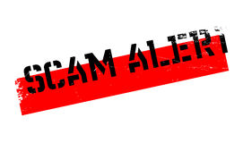Scam Alert rubber stamp Stock Images