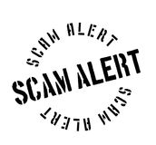 Scam Alert rubber stamp Royalty Free Stock Photo