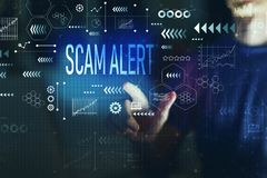 Scam Alert With Young Man Stock Photo