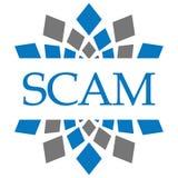 Scam Blue Grey Circular Stock Photo