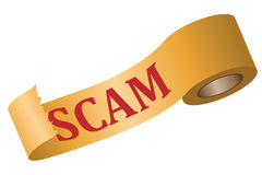 Scam and tape Royalty Free Stock Image