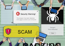 Scam Virus Internet Network Security System Concept Stock Photography