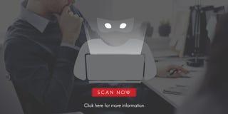 Scam-Virus Spyware-Schadsoftware-Antivirus-Konzept Lizenzfreies Stockfoto