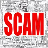 Scam word cloud Stock Image