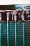 Scambiatore di calore del condizionatore d'aria del dettaglio dell'unità del condensatore Immagine Stock