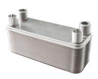 Scambiatore di calore del piatto, isolato Fotografia Stock