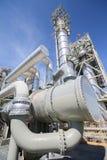 Scambiatore di calore in impianto industriale Fotografie Stock Libere da Diritti