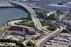 Scambio dell'autostrada senza pedaggio Fotografia Stock
