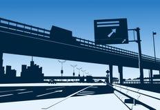 Scambio dell'autostrada senza pedaggio Fotografie Stock Libere da Diritti