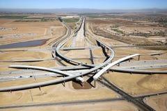 Scambio dell'autostrada senza pedaggio Fotografie Stock