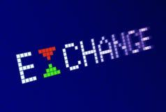 SCAMBIO di iscrizione su visualizzazione elettronica Immagini Stock