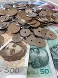 Scambio di soldi Fotografie Stock Libere da Diritti