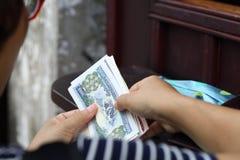 Scambio di soldi stranieri Immagine Stock Libera da Diritti