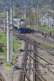 Scambio di trasporto ferroviario immagine stock