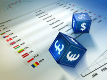 Scambio di valuta Fotografie Stock