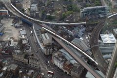 Scambio ferroviario di traffico a Londra fotografie stock