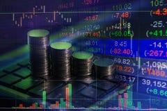 Scambio finanziario del mercato azionario, backgro di concetto della relazione di attività fotografia stock libera da diritti