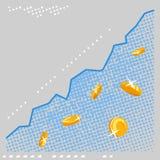 Scambio Rate Growth di programma Fotografia Stock Libera da Diritti