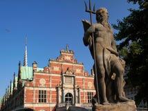 Scambio storico del fondo antico a Copenhaghen Immagini Stock
