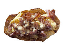 Scambled ägg och baconrostat bröd Fotografering för Bildbyråer