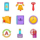 Scammer icons set, cartoon style Stock Photography