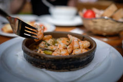 Scampi食物 免版税图库摄影